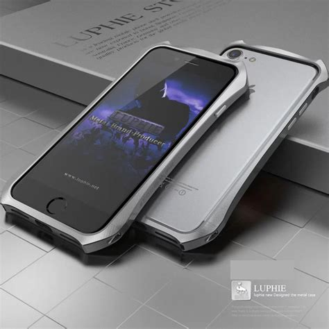Luphie Metal Bumper Aluminium Iphone 7 Plus 8 Plus Merah Hitam luphie armor shockproof aluminum metal bumper cover for iphone 7 7 plus ebay