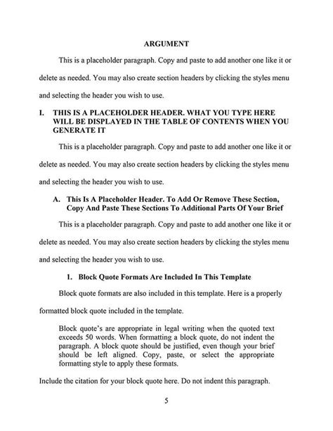 Appellate Brief Briefformat An Appellate Brief Template For Word