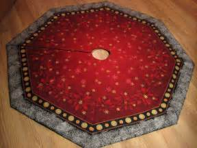 elegant octagon christmas tree skirt in asian by