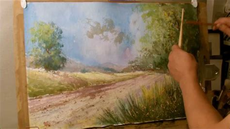 how to paint how to paint a landscape in water color youtube