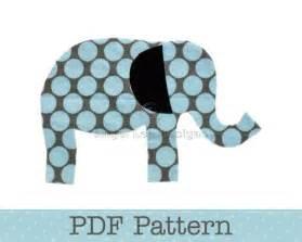 elephant applique template elephant applique pattern pdf template applique designs
