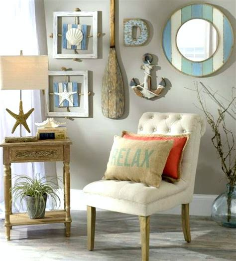 coastal decor ideas nautical beach cottage gallery wall idea from kirkland s