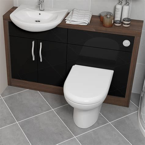 Black Bathroom Vanity Units Lucido 1200 Vanity Unit Black Bathroom City