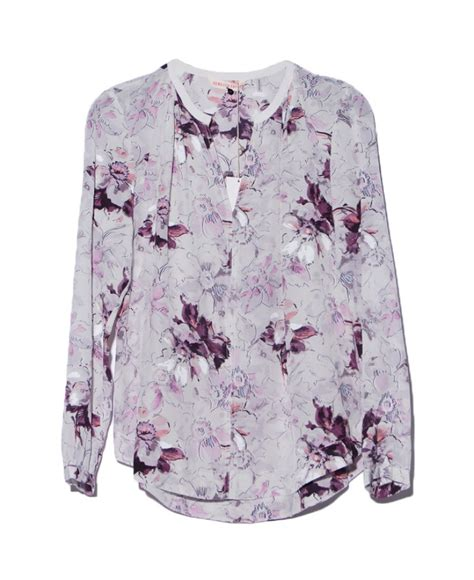 Superdry Floral Black With Grey Floral Print Silicone Syl1 lyst grey floral print blouse in gray