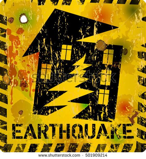 earthquake signs earthquake sign stock images royalty free images