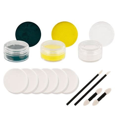 paint set packers pro football makeup green bay