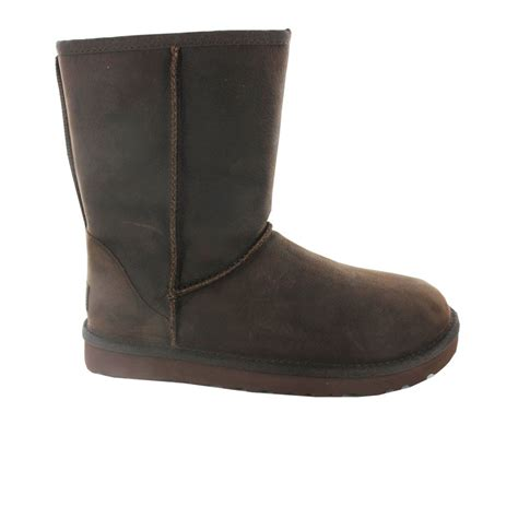 buy ugg classic womens boot in brown leather