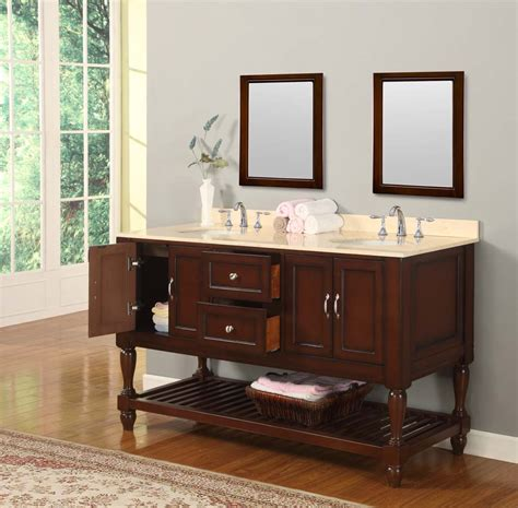 Bathroom Vanity Console 70 Quot Mission Style Bathroom Vanity Sink Console With White Marble Top And Espresso Finish