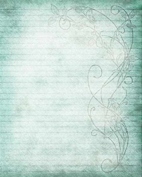 air background paper template printable journal page flower lined stationery 8 x 10 jpg