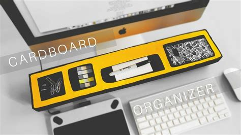 Desk Organization Diy by Cardboard Desk Organizer Recycle Diy Attachment Diy