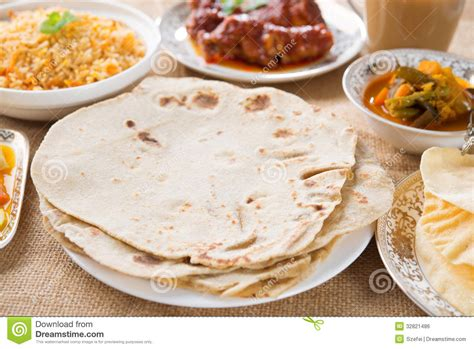 Extended Dining Table chapatti roti royalty free stock image image 32821486