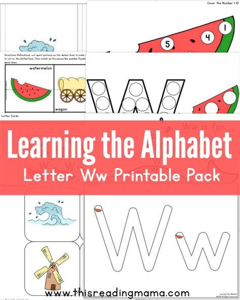 printable alphabet readers learning the alphabet free letter w printable pack