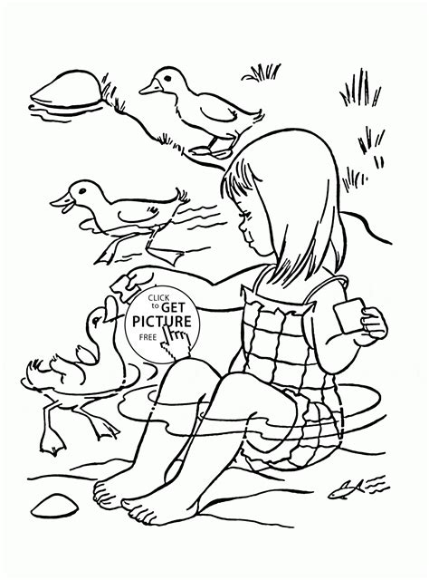 pics for gt cute duck coloring page