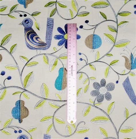 whimsical upholstery fabric kravet lee jofa whimsical folk art birds embroidered