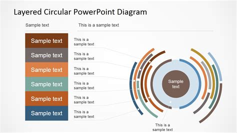 7 step 4 layers circular diagram for powerpoint slidemodel layered circular powerpoint diagram slidemodel