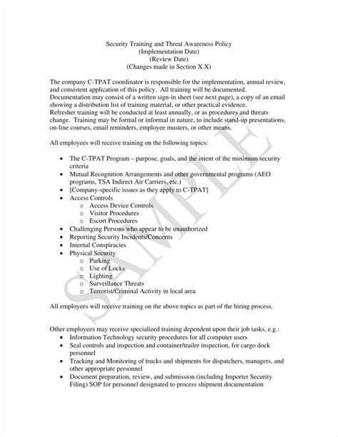 physical security policy template physical security policy template image collections