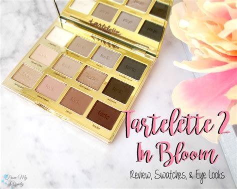 Tarte Giveaway 2016 - tarte tartelette in bloom palette review swatches eye looks giveaway from