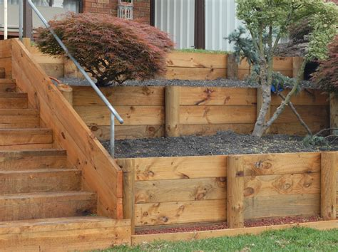 Diy Retaining Wall Sleepers by Retaining Walls Timber Retaining Walls Sleepers Diy