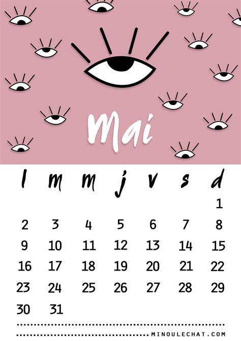 Calendrier De Mai Calendrier De Mai 2016 Et Fond D 233 Cran Minou Le Chat
