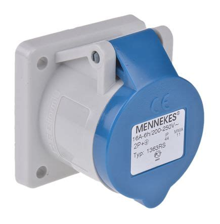 3d Home Interiors by 1363 Mennekes Ip44 Blue Panel Mount 3p Industrial Power Socket Rated At 16a 230 V Mennekes