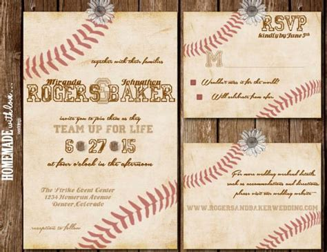 baseball wedding invitations hey i found this really awesome etsy listing at https