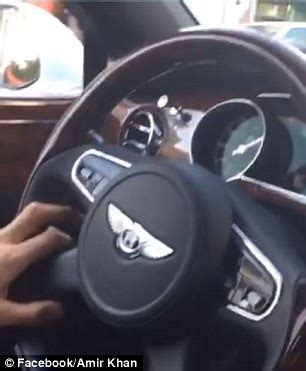 bentley steering wheel snapchat amir khan facing probe after posting snapchat of him