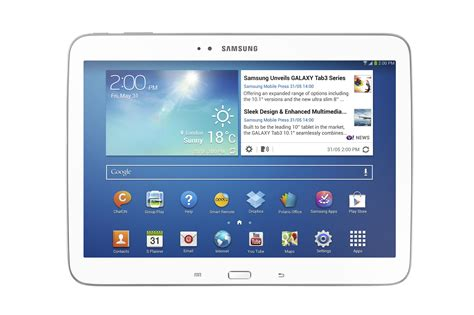 Samsung New samsung unveils 8 and 10 1 galaxy tab 3 android tablets