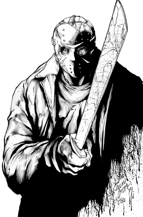 jason vs freddy free coloring pages