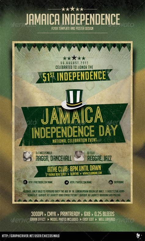 flyer design jamaica jamaica independence day flyer graphicriver