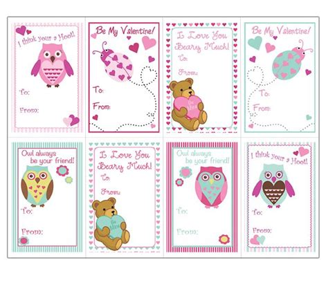 Valentines Cards Template Word by Animals Cards Templates For