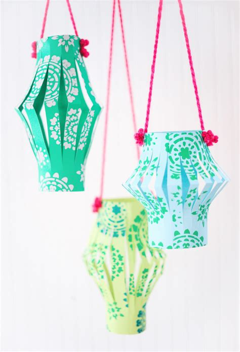 How To Make Lanterns Out Of Paper - diy fabriquer des petites lanternes chinoises en papier