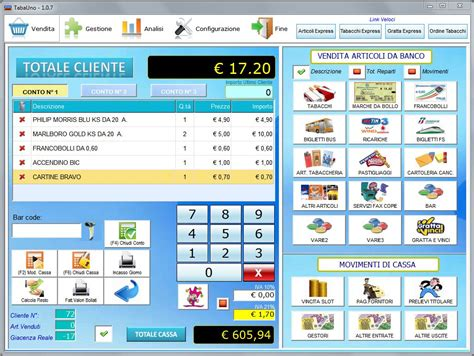 terminale itb tabauno software gestionale per tabaccherie