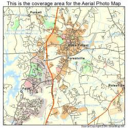 aerial photography map of forest nc carolina