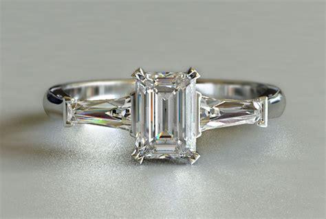 1ctw engagement ring emerald cut new zealand