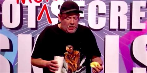 celebrity juice disgusting johnny vegas eats whole stick of butter and pint of