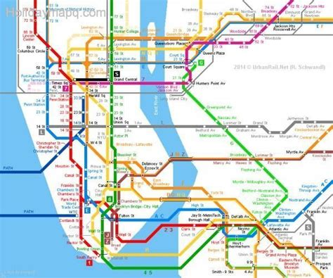 subway map in nyc new york subway map map travel holidaymapq
