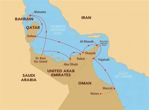 qatar uae map qatar map in gulf