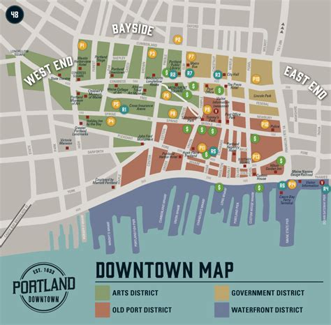 map downtown portland oregon downtown map portland downtown
