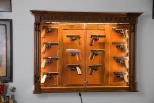 Custom Display Cabinets Uk 14 Gun Cherry Pistol Display