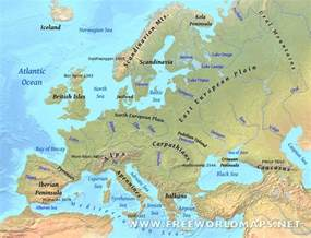 Physical Map Of Western Europe by Europe Physical Map Freeworldmaps Net