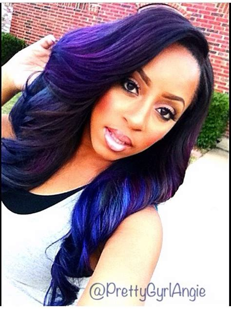 purple hair black women purple hair on african american women is beautiful