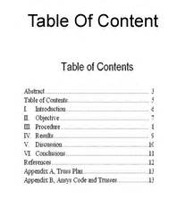 Mla Format Table Of Contents Template by Best Photos Of Four Table Contents Format Sle Apa