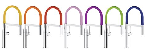 colored kitchen faucets grohe launches colorful faucet collection builder