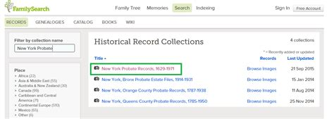 Will County Probate Search Genealogy Tips Probate Records In New York The New York