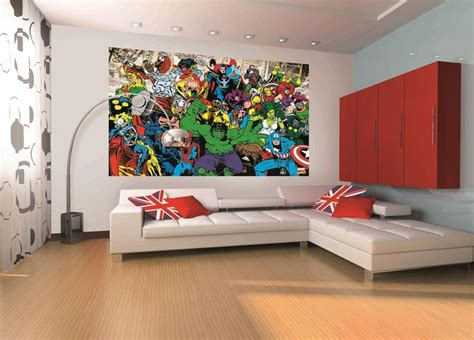 superhero wallpaper for bedroom 20 best images about licensed wall murals everyone will