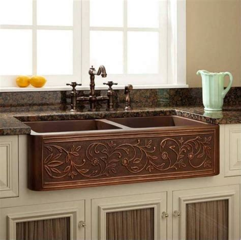 best material for farmhouse kitchen sink copper kitchen sink farmhouse style