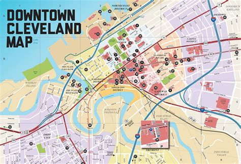 maps cleveland large cleveland maps for free and print high