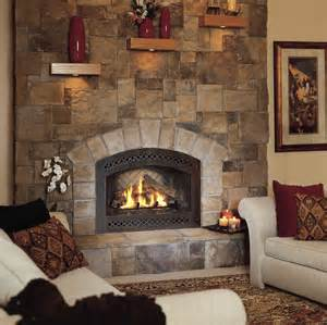 Two Sided Sofa fireplaces with cultured stone facing new york by instone