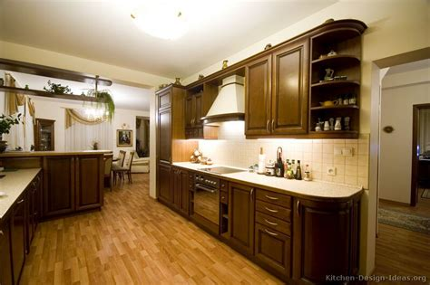 walnut color kitchen cabinets pictures of kitchens traditional wood kitchens