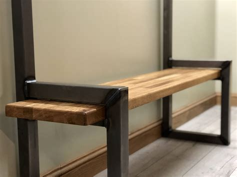 boot bench with coat rack industrial hallway steel bench with shoe boot storage